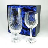 Crystal His & Hers Wine & Beer Glass Set PERSONALISED ref WPPR